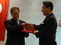 Ambassador Mr. Tanaka delivered the key to Ministry Mr. Günay